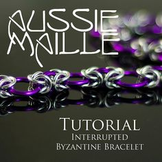 Chainmaille Tutorial Interrupted Byzantine by AussieMaille Aluminum Wire Jewelry, Wire Jewellery, Bead Jewelry, Jewlery, Jewelry Crafts, Handmade Jewelry, Jewelry Ideas, Chainmaille Bracelet, Rope Necklace
