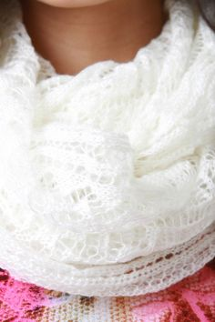 Ethereal Fine Knit Fabrication Scarf
