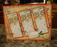 Santa Trio by - Cards and Paper Crafts at Splitcoaststampers Homemade Christmas Cards, Christmas Cards To Make, Xmas Cards, Holiday Cards, Christmas Crafts, Pretty Cards, Love Cards, Santa Stamp, Christmas Challenge