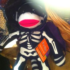Halloween sock monkey - I have this guy :)