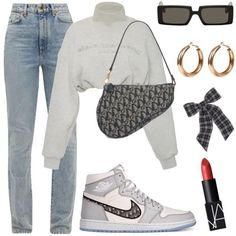 ✔ Cute Clothes For School Jeans Teen Fashion Outfits, Edgy Outfits, Swag Outfits, Mode Outfits, Retro Outfits, Cute Casual Outfits, Look Fashion, Korean Fashion, Vintage Outfits