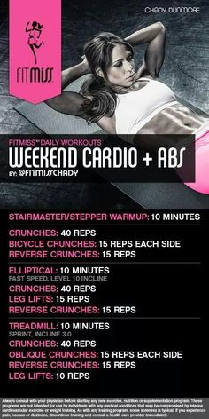 Cardio and abs