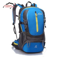 (Worth to buy, only $0.99) LOCAL LION Outdoor 35L Camping Bag Waterproof Ultralight Hiking climbing Backpack bag cycling External Frame backpack (Free gifts every day )