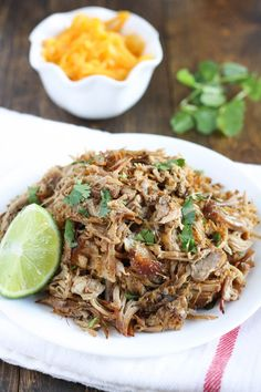 Easy and delicious crockpot pork carnitas. Perfect for an easy dinner during the week!