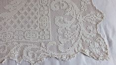 Antique French Handmade Filet Lace Scalloped by GabriellesGrandson