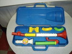 VINTAGE FISHER PRICE CRAZY COMBO HORN SET 1984 haha this was always in the toy box at my mom-mom's house