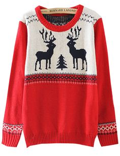 Holiday deer sweater