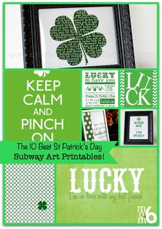 The 10 Best St Patrick's Day Subway Art Printables!
