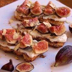 Fig & Greek Yogurt Toasts With Almonds & Honey
