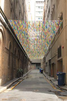 Alleyway art installation