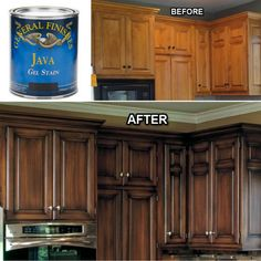 Do you love your wood cabinets but feel like the drama and the romance are gone? Give them a makeover with General Finishes Gel Stains! Visit us at the studio or find them on our webstore. Happy Painting! https://shop-interiors-to-inspire.myshopify.com/collections/stains-glazes