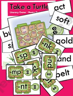 Take a Turtle - Final Consonant Blends   # Pinterest++ for iPad #