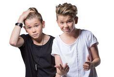 <p>UNGPIKEIDOLER: Tvillingene Marcus og Martinus Gunnarsen (13) fra Trofors i Nordland.<br/></p>