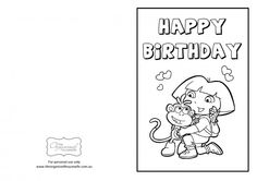 Dora The Explorer birthday card printables (and others).