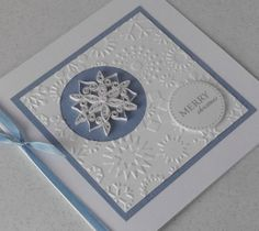 Quilled snowflake Christmas card handmade by PaperDaisyCardDesign