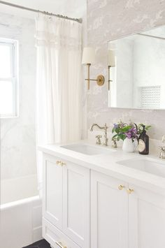 small master bathroom remodel full reveal, vintage inspired white bathroom, light and airy, bathroom remodel budget breakdown, bathroom interior design bad Renovieren Master Bathroom Remodel Reveal and a Budget Breakdown Bad Inspiration, Bathroom Inspiration, Bathroom Ideas, Bathroom Storage, Bathroom Inspo, Bathroom Shelves, Bathroom Organization, Bathroom Design Small, Bathroom Interior Design