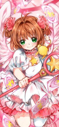Cardcaptor Sakura | CLAMP | Madhouse / Kinomoto Sakura and Keroberos (Kero-chan) / 「絶対 大丈夫だよ」/「黒蜜まりあ」のイラスト [pixiv]