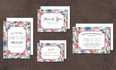 Wedding Invitation Suite floral by aticnomar on Creative Market