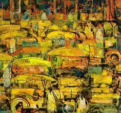 """Vicente Manansala's """"Jeepney"""""""