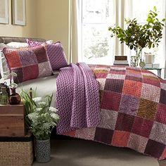 Special Edition by Lush Decor Paisley 3 Piece Patchwork Quilt Set Paisley Quilt, Best Bedding Sets, Comforter Set, Fuchsia, Purple, Quilt Sets, Decor Styles, Lush, Pillows