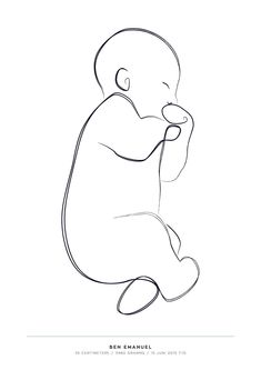 Clipart Baby, Art And Illustration, Nurse Drawing, Baby Sketch, Art Drawings, Outline Drawings, Baby Posters, Outline Art, Simple Canvas Paintings