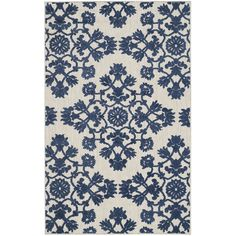 Safavieh Cottage Collection COT910B Light Grey and Royal Blue Area Rug (3'3' x 5'3') -- Continue to the product at the image link. (This is an affiliate link and I receive a commission for the sales)