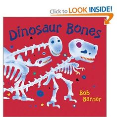 With a lively rhyming text and vibrant paper collage illustrations, author-artist Bob Barner shakes the dust off the dinosaur bones found in museums and reminds us that they once belonged to living, breathing creatures. Filled with fun dinosaur facts (a T. Rex skull can weigh up to 750 pounds!) and an informational 'Dinometer,' Dinosaur Bones is sure to make young dinosaur enthusiasts roar with delight.  Show more   Show less