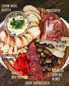 Holiday Antipasto Platter - use delicious, fresh and store bought ingredients to make an impressive antipasto platter to bring to your next holiday party : mangiamichelle Food Platters, Cheese Platters, Party Platters, Appetizers For Party, Appetizer Recipes, Meat Appetizers, Antipasto Recipes, Italian Appetizers, Charcuterie And Cheese Board