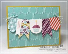 Stampin' Up! Birthday by  Krista Fenton at Krista's Stamp Spot: Patterned Occasions