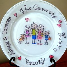 Personalized Family Plate by tucker24 on Etsy, $99.99