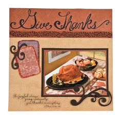 Give Thanks Scrapbook Page - OrientalTrading.com