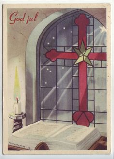 God Jul- sign. Milly Heegaard brukt 1944. Børrehaug & Rønning. Christmas Postcards, Christmas Cards, Norway, Sign, God, Home Decor, Christmas E Cards, Dios, Decoration Home