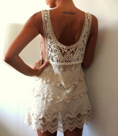tattoo and lovely lace  -  love the location of the tat