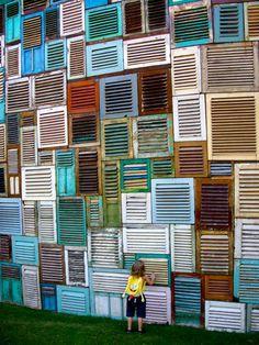 shutter wall - love it