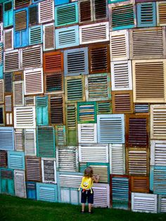 shutter wall - love it