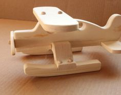 Wood Toy Airplane Alaska bush plane float plane by OutOnALimbADK