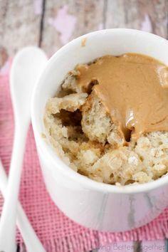Oatmeal & Peanut Butter Mug Cake | 19 Breakfasts You Can Make In A Mug