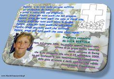 LUCA BERTOLA: trzynastolatek zmarły w opinii świętości dnia 14 września 2009 we Włoszech...