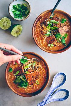 Veggie Recipes, Asian Recipes, Soup Recipes, Vegetarian Recipes, Cooking Recipes, Healthy Recipes, Veggie Food, Recipies, Vegan Dishes