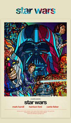 Affiches de films des années 80 rétro par l'artiste Van Orton Design