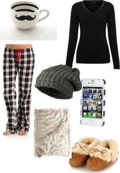 """cozy day in"" by mayarose2002 ❤ liked on Polyvore"