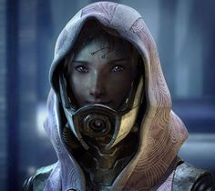 Amazing Tali fan art for Mass Effect 3.