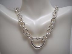 NEW #HeavySilver #SolidSilver #925Silver #925Sterling #925SterlingSilver #Silver #Sterling #SterlingSilver #Heart #FloatingHeart #Toggle #Necklace NWOT, 60.5g #Tiffany #TiffanyandCompany #TiffanyandCo #Chain #Jewelry #Jewellery
