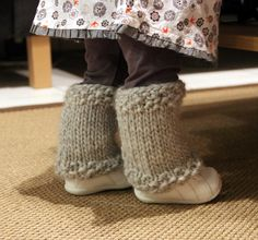 Guêtres Tricot 18 mois 01 Sansa, Leg Warmers, Tatting, Baby Kids, Slippers, Legs, How To Wear, Accessories, Point