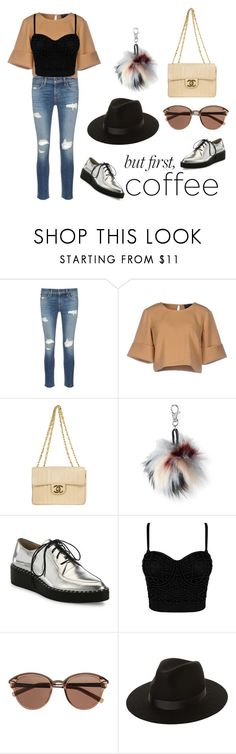 """coffee in the other hand confidence in the other"" by fiorinnc ❤ liked on Polyvore featuring rag & bone/JEAN, The Fifth Label, Chanel, Aéropostale, Loeffler Randall, Witchery and Lack of Color"