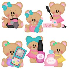 DIGITAL SCRAPBOOKING CLIPART Pretty Bears by BoxerScraps on Etsy, $1.00