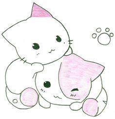 Cute Anime Cat Drawing Cats are soooo cute!