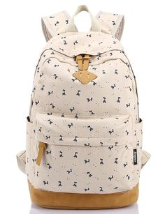 Leaper Lightweight Canvas Laptop Backpack Cute School Bags (Large 763406f9dcc07