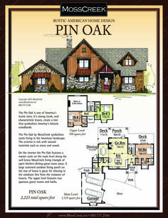 A Ready to Purchase 2,223 SF Home Plan from MossCreek.