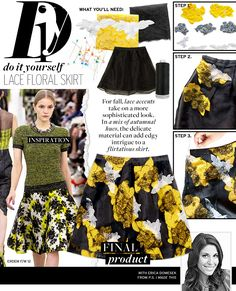 Lace Floral Skirt via @WhoWhatWear
